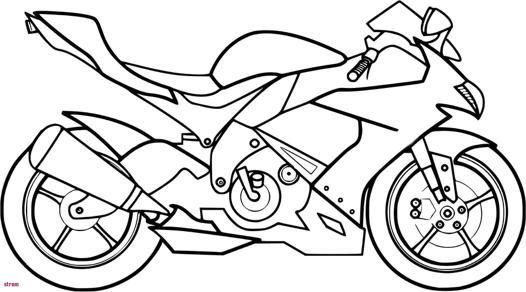 moto coloriage