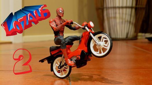 moto spiderman video