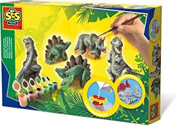 moulage platre dinosaure