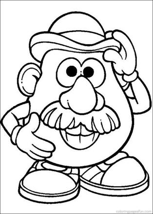 mr patate coloriage