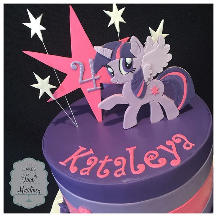 my little pony twilight sparkle cake