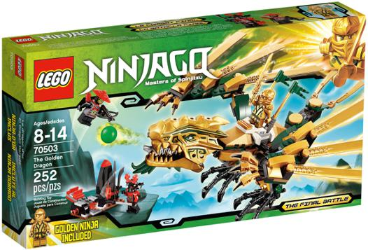 ninjago le dragon d or
