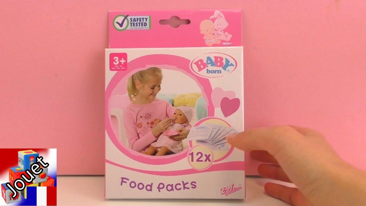 nourriture pour baby born