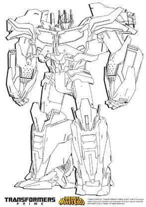 optimus prime dessin