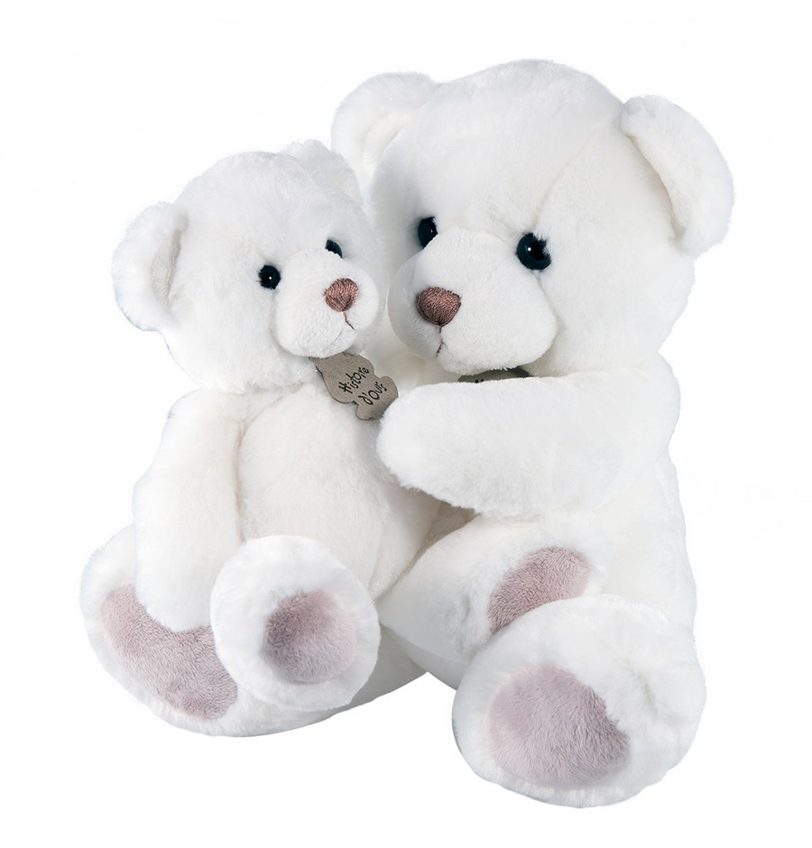 ours peluche blanc