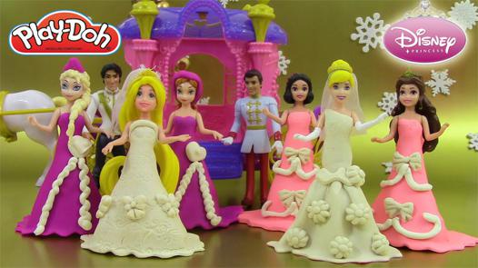 pâte à modeler princesse elsa