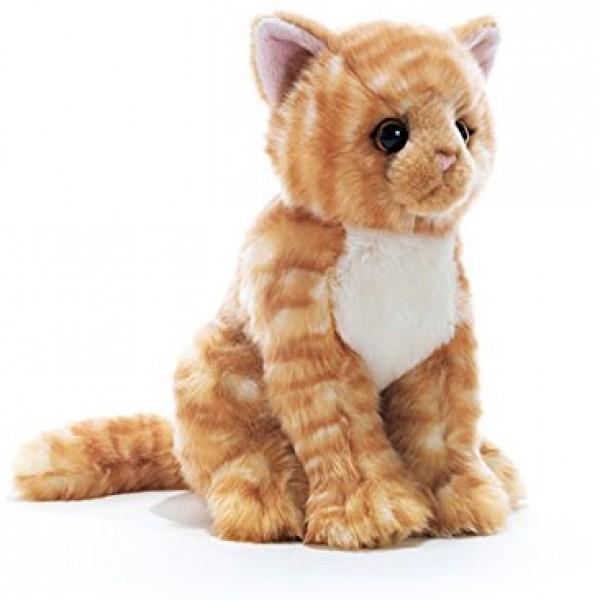 peluche chat roux