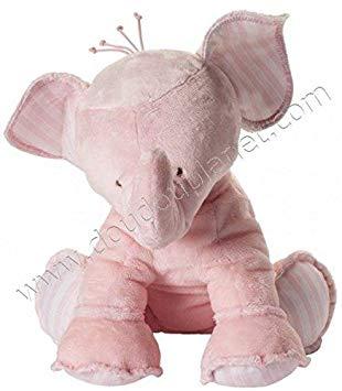 peluche elephant rose