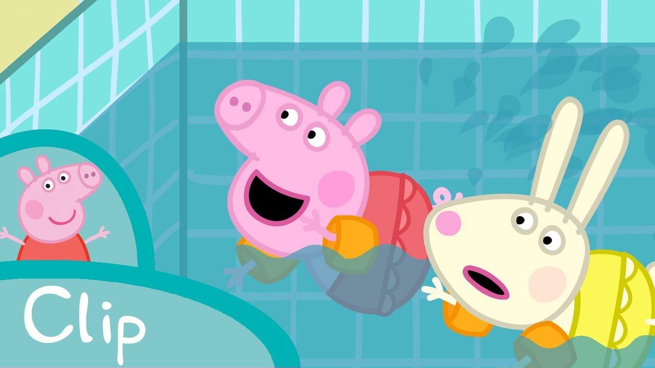peppa pig à la piscine