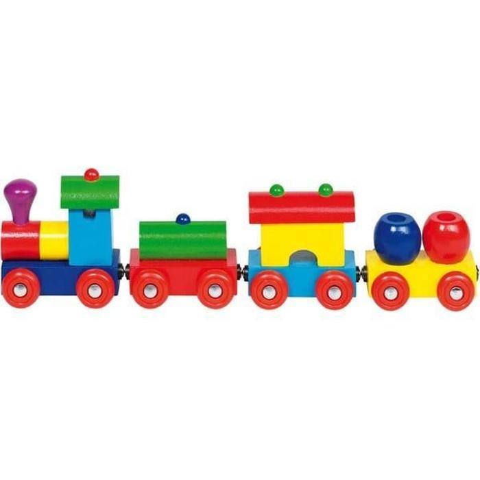 petit train en bois jouet