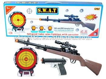 pistolet laser avec cible jouet