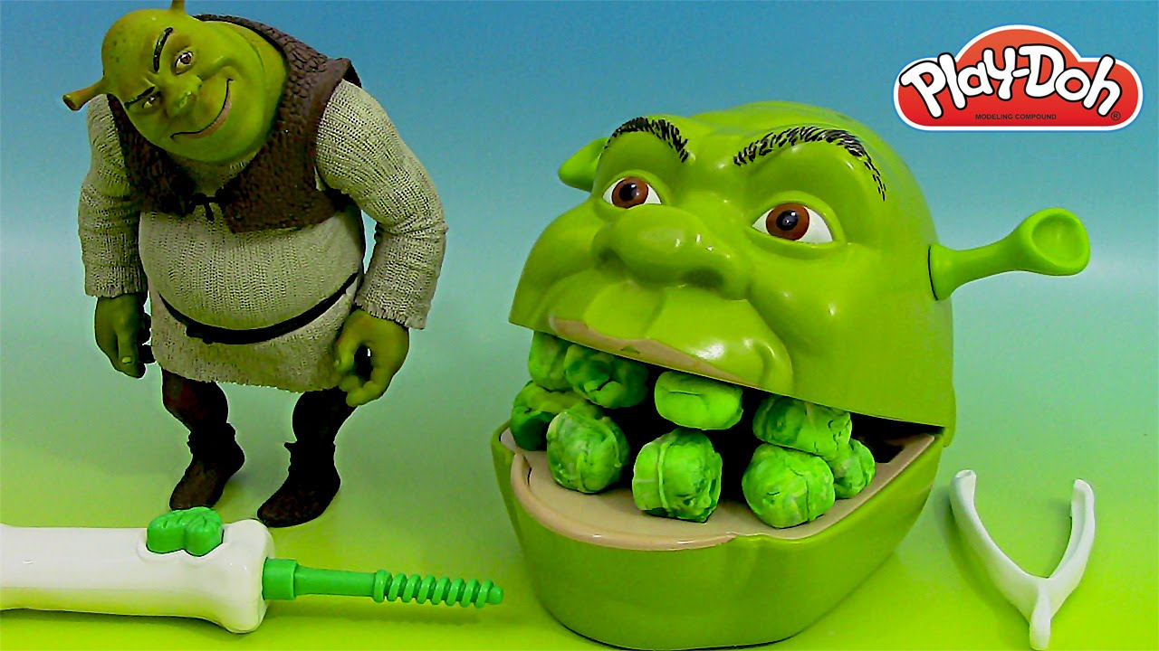 play doh dentiste shrek