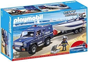 playmobil 5187 fourgon et vedette de police