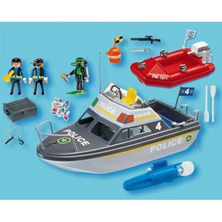 playmobil bateau police
