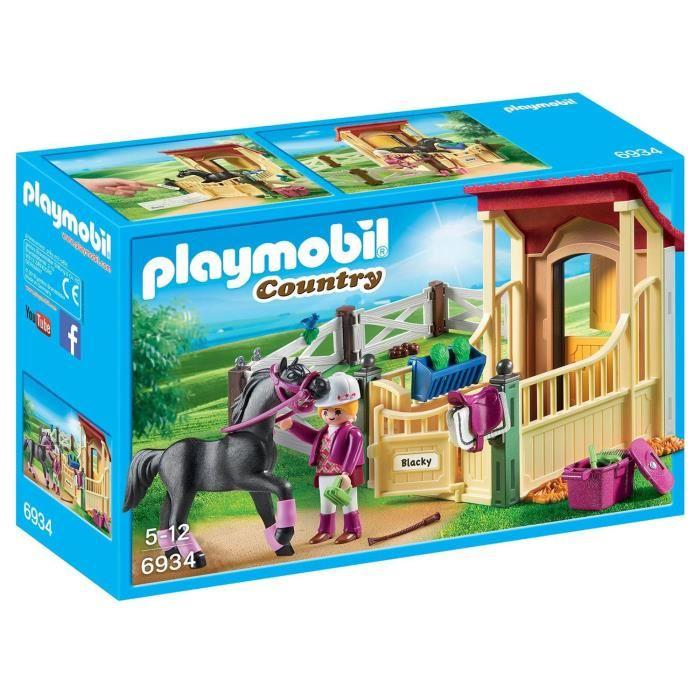 playmobil box cheval