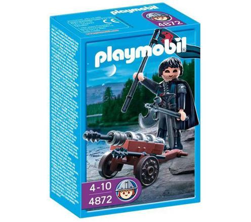 playmobil chevalier canon