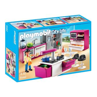 playmobil city life 5582 cuisine avec îlot