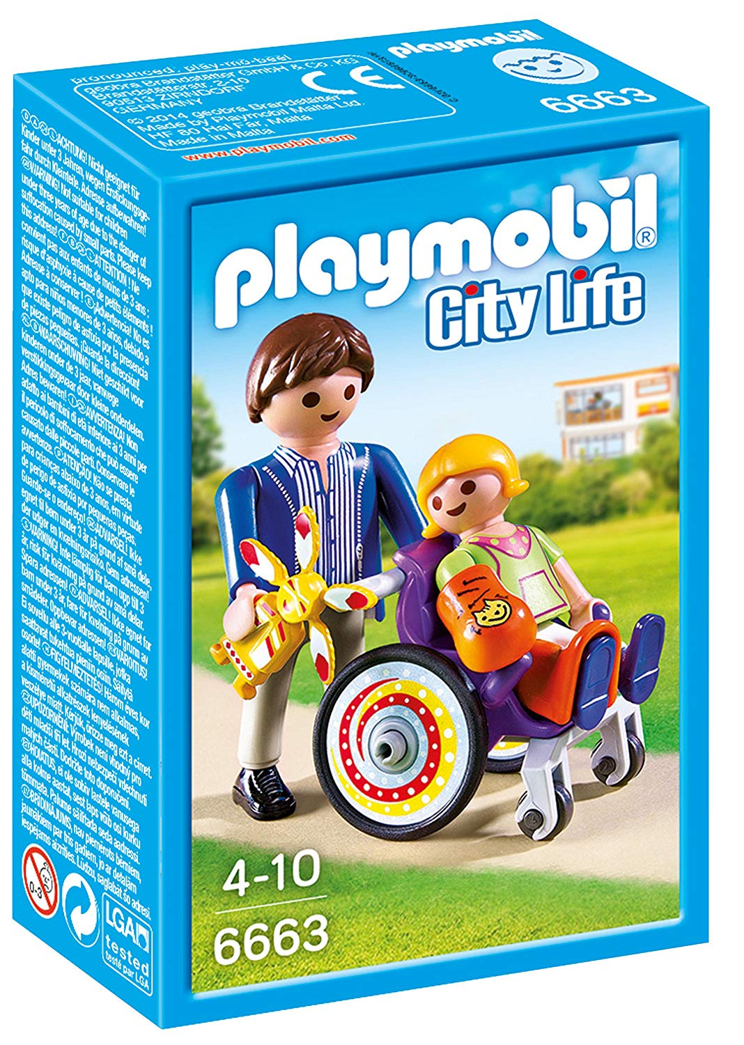 playmobil fauteuil roulant
