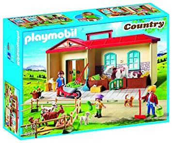 playmobil ferme transportable