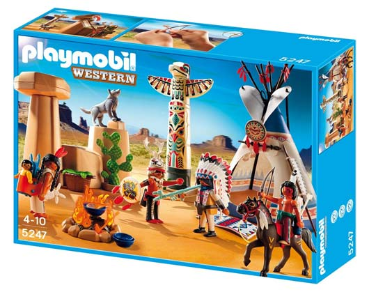 playmobil indiens et cow boy