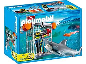playmobil plongeur avec requin