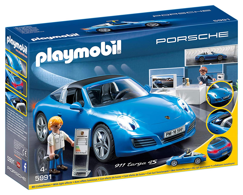 playmobil porsche bleu