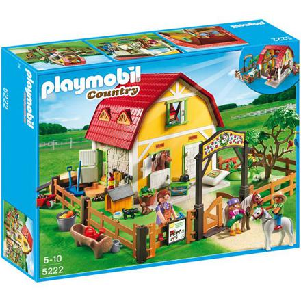 playmobil ranch avec poney