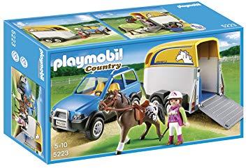 playmobil remorque cheval