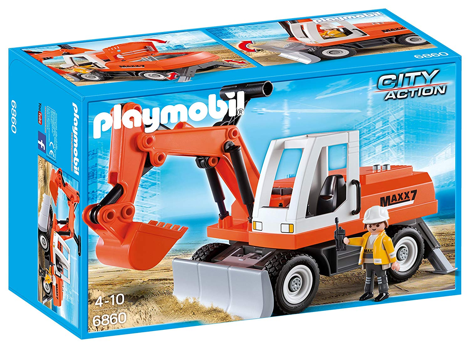 playmobil tractopelle
