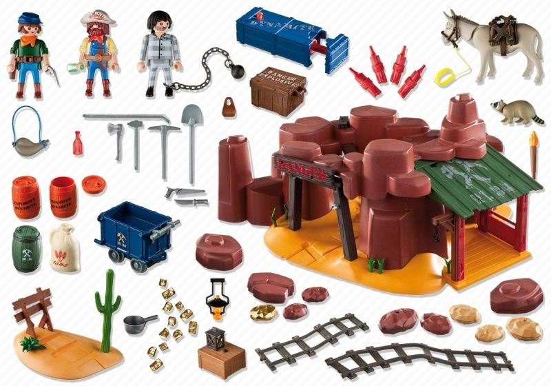 playmobil western la mine d or