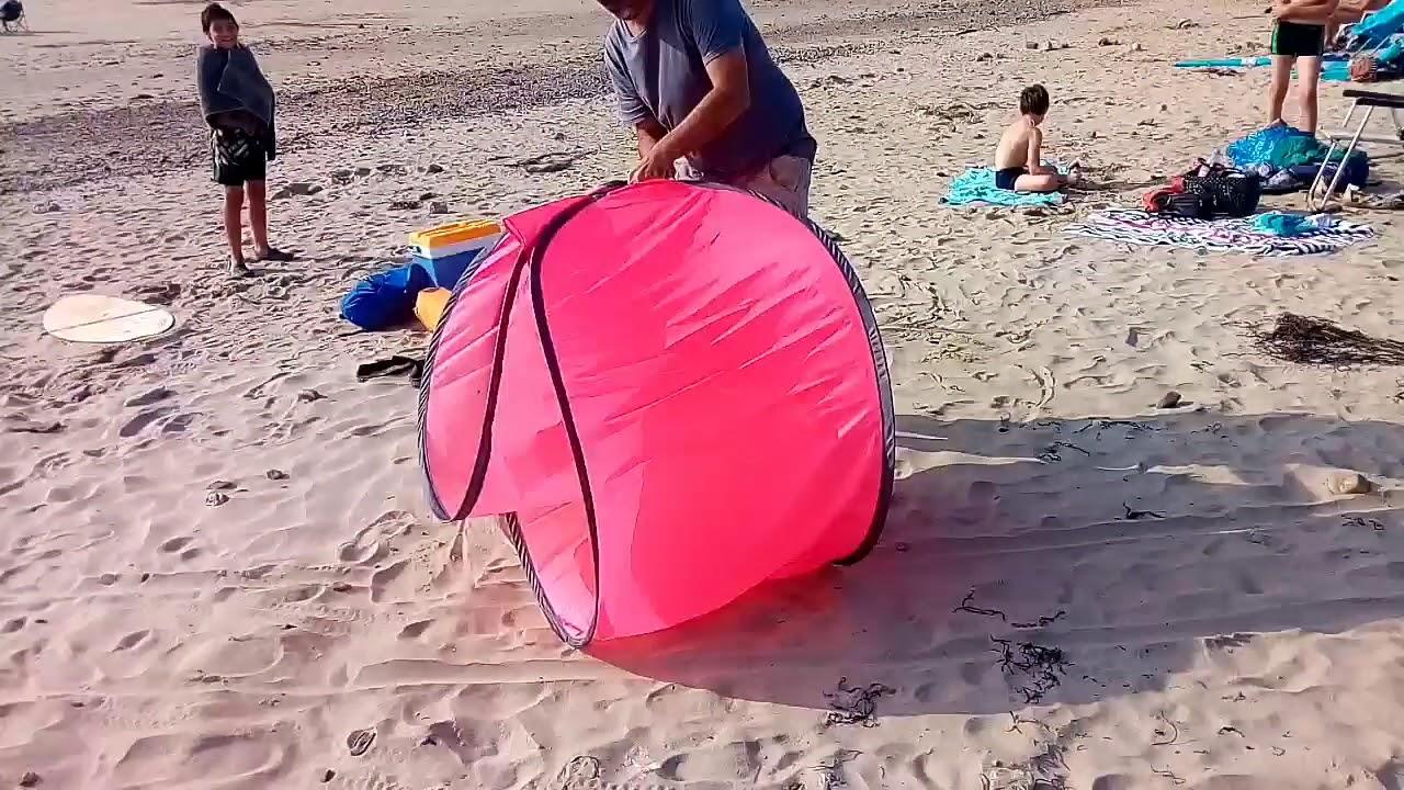 pliage tente de plage