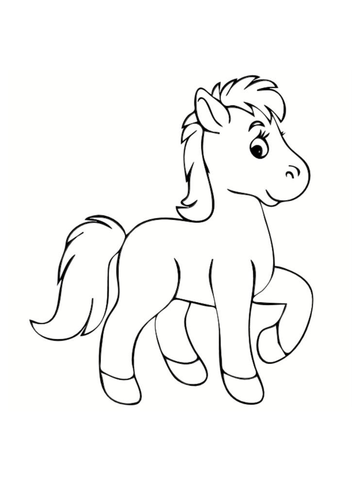 poney a dessiner