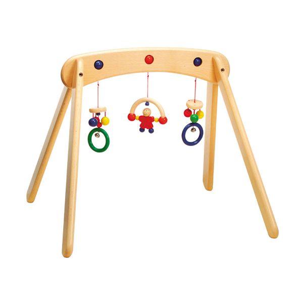 portique bébé en bois
