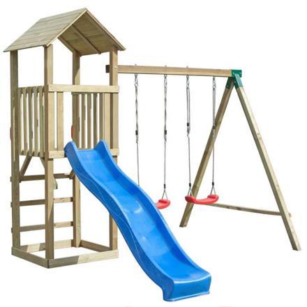 portique enfant toboggan
