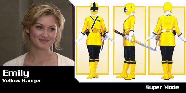 power rangers samurai jaune