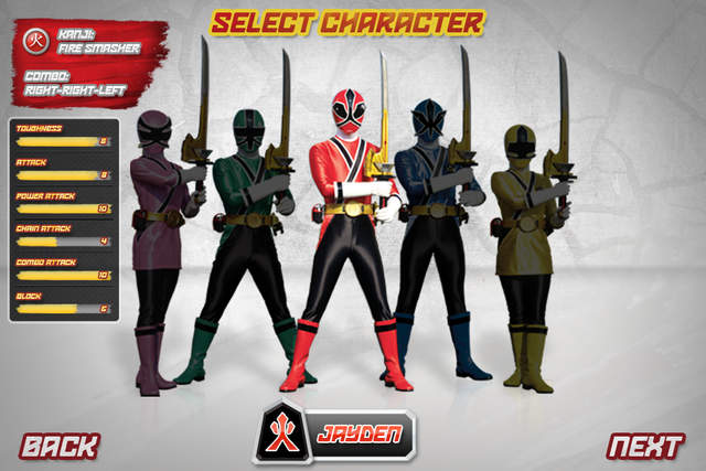 power rangers samurai steel jeux