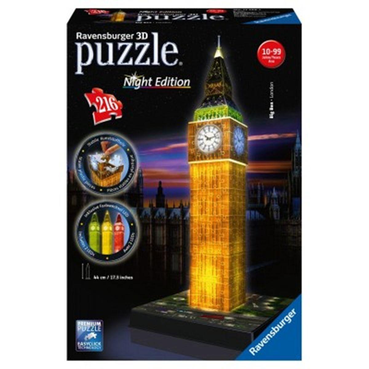 puzzle 3d big ben lumineux