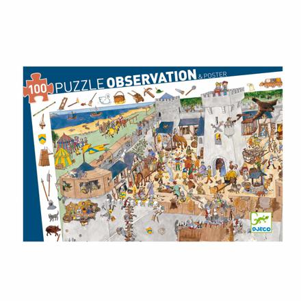 puzzle djeco 100 pieces chateau fort