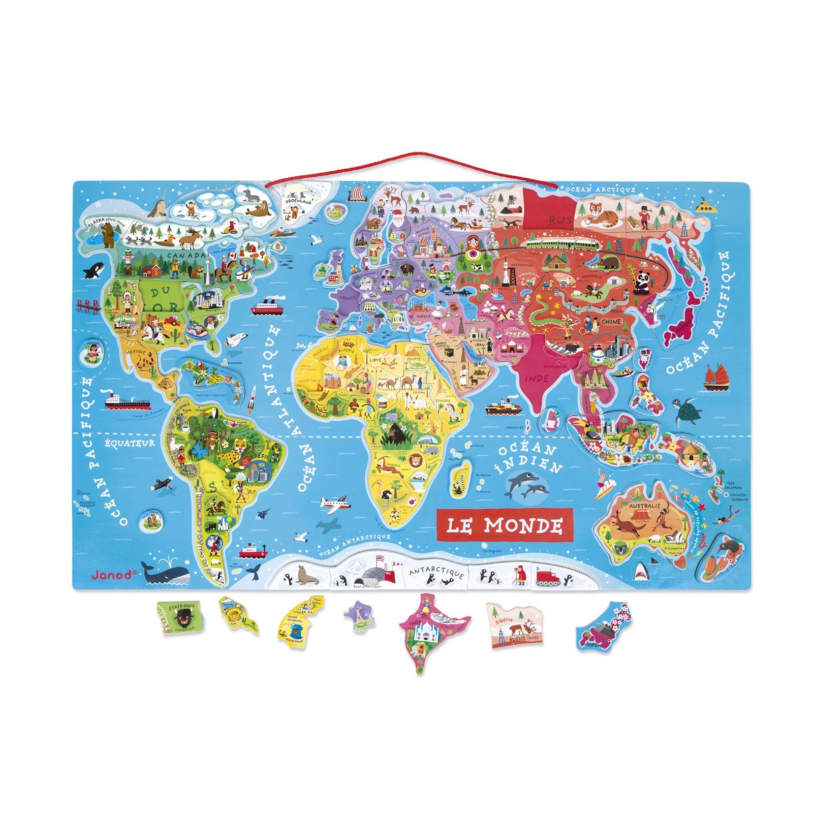puzzle janod monde