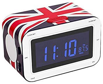 radio reveil drapeau anglais