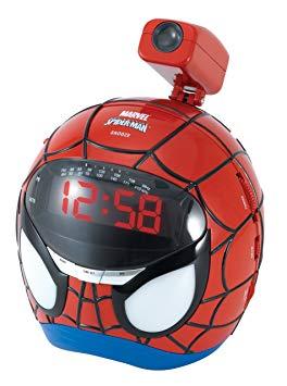radio reveil spiderman projecteur