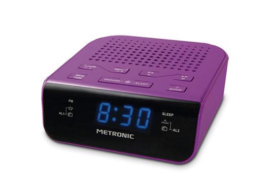 radio reveil violet