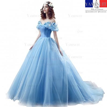 robe de princesse bleu
