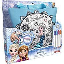 sac reine des neiges a colorier
