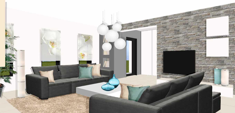 salon maison moderne