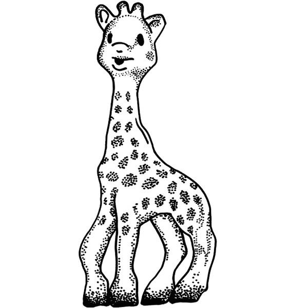 sophie la girafe dessin