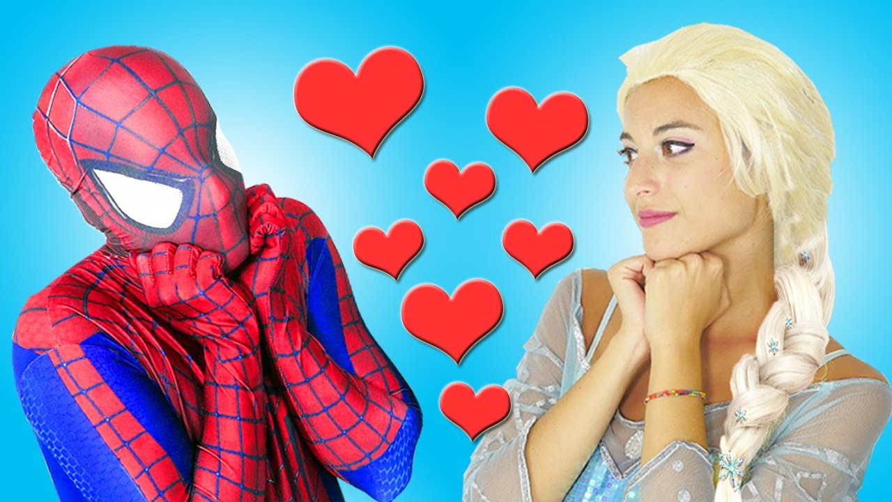 spiderman et la reine des neiges youtube