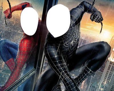 spiderman noir et rouge