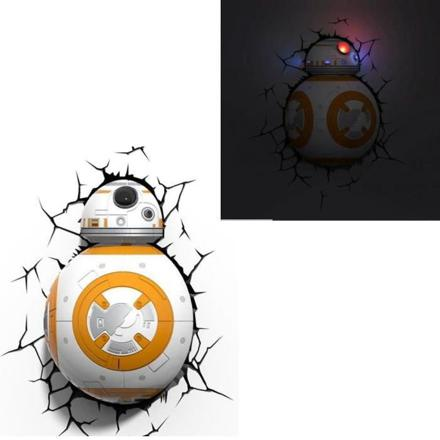 star wars vii lampe décorative 3d bb 8