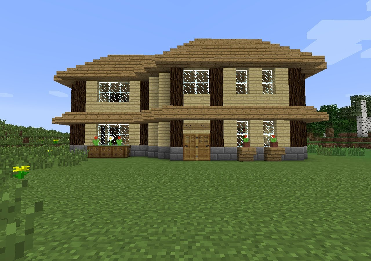 super belle maison minecraft